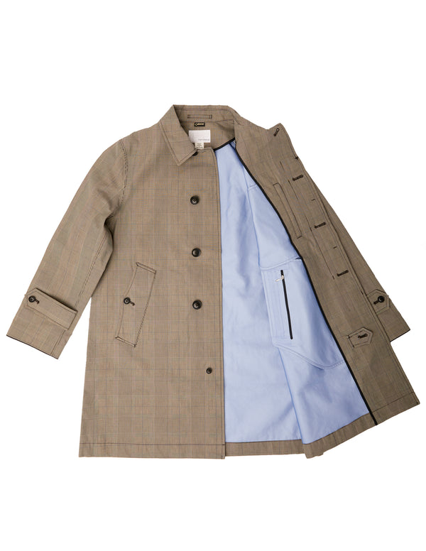 Gore Tex Soutien Collar Coat in Glen Check