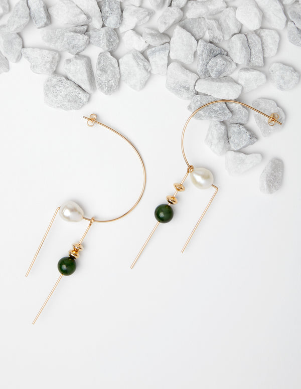 Circa Earrings in Jade