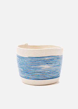 Medium Bucket in Blue + Natural