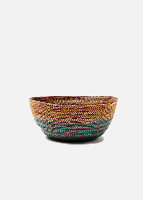 Medium Bowl in Teal + Marigold
