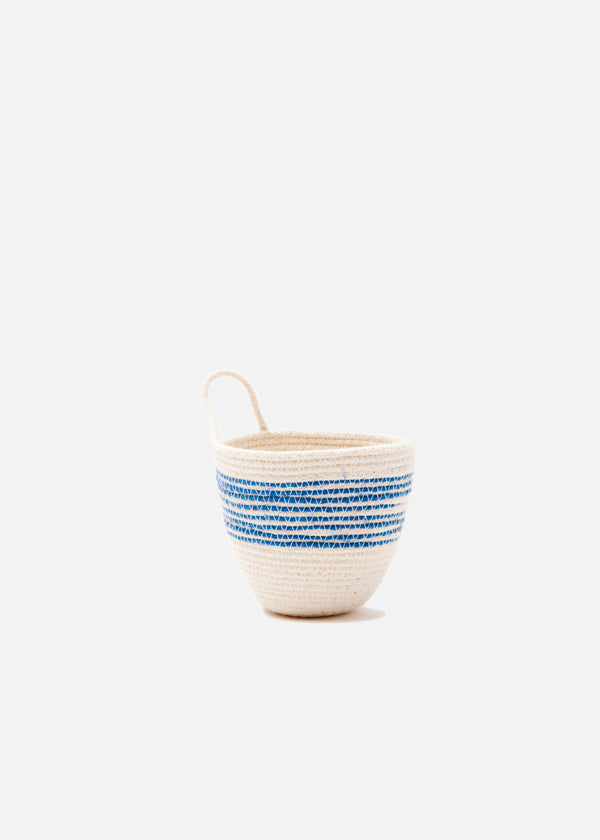 Mini Planter in Blue + Natural