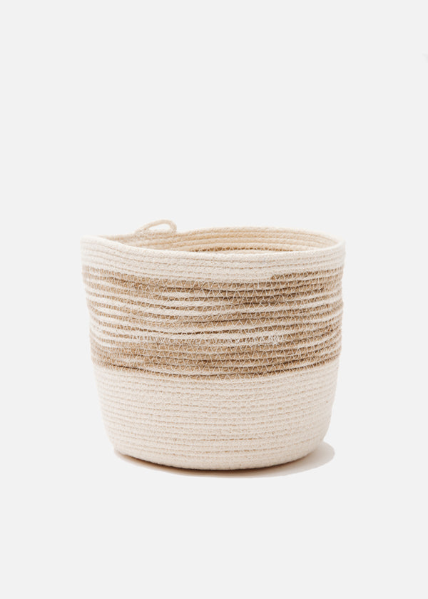 Medium Bucket in Jute + Natural