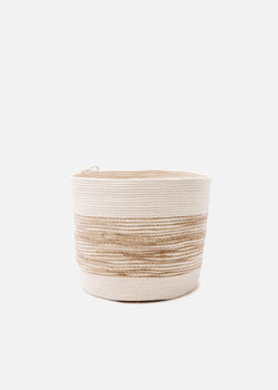 Small Bucket in Jute + Natural