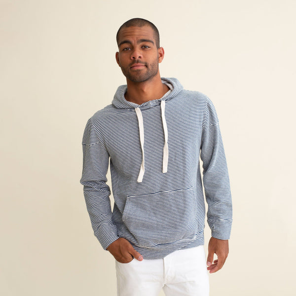 Hemp & Cotton Stripe Maui Hooded Sweatshirt