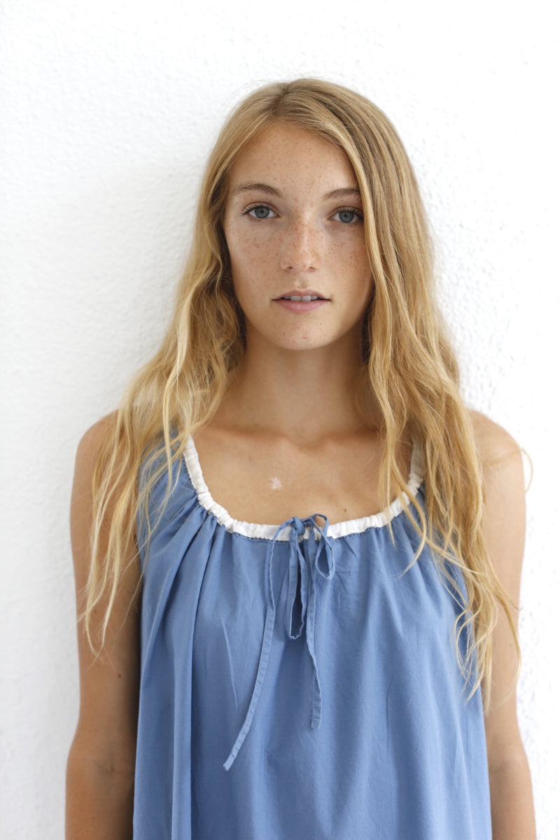 Sleeveless Chemise / Cornflower Blue