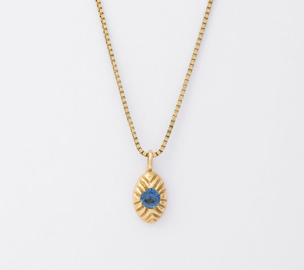14k Sapphire Seedling Necklace