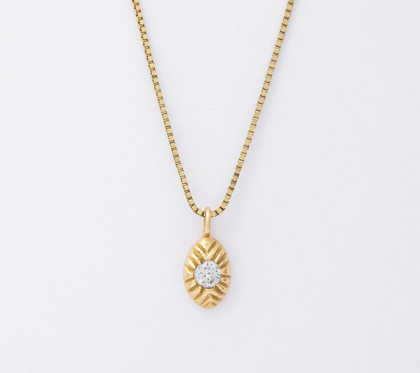 14k Diamond Seedling Necklace
