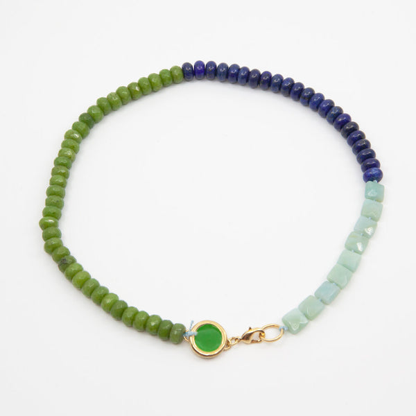 Beaded Necklace in Blue/Green