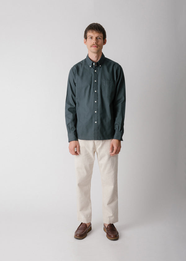 Classic Collegiate Shirt, Deep Forest Oxford