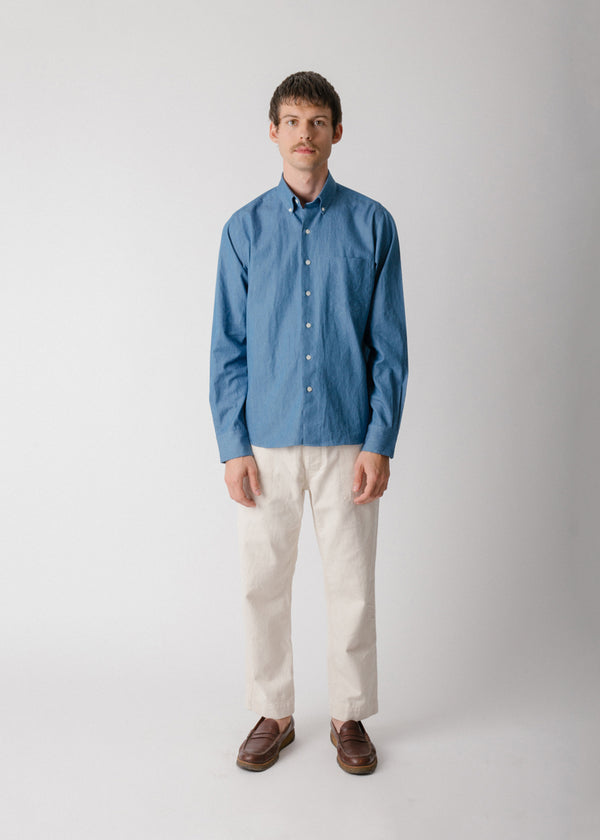 Single Needle Shirt, Soft Denim