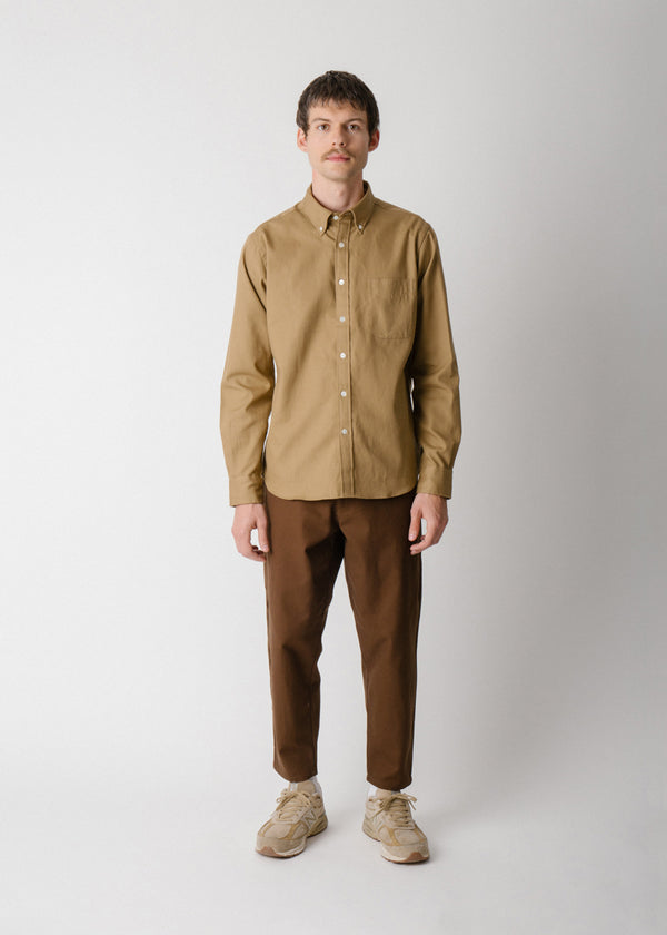 Classic Collegiate Shirt, Earth Oxford