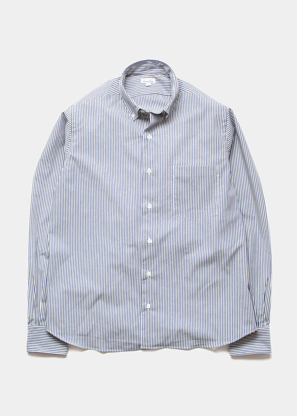 Single Needle Shirt, Eton Blue Stripe