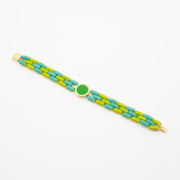 Glass Bead Bracelet in Green