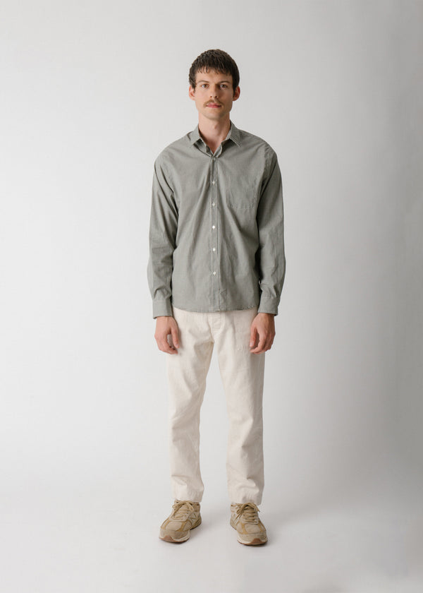 Reverse Seam Shirt, Forest Gingham