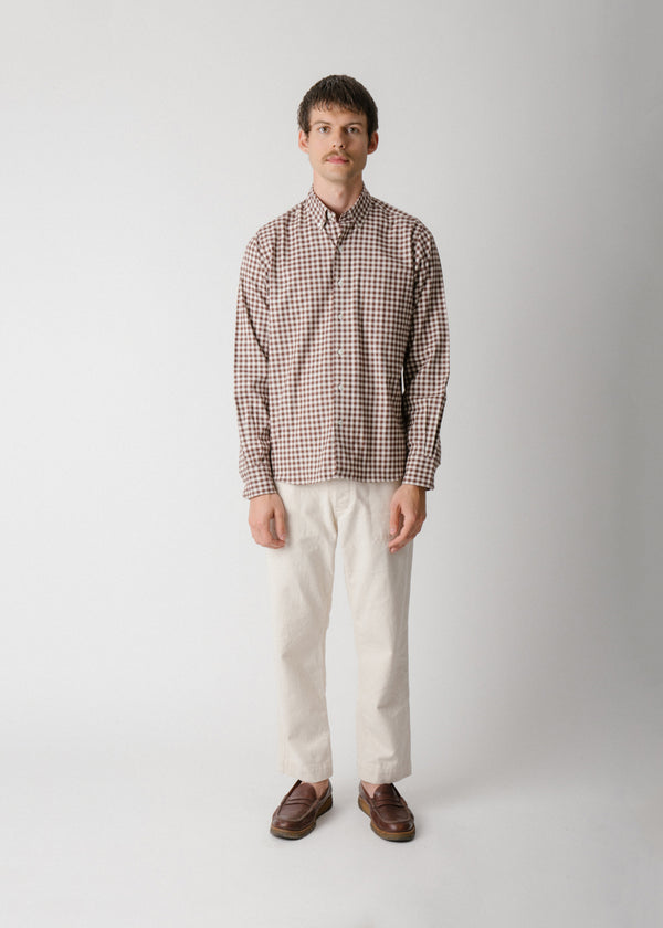 Single Needle Shirt, Hickory Gingham