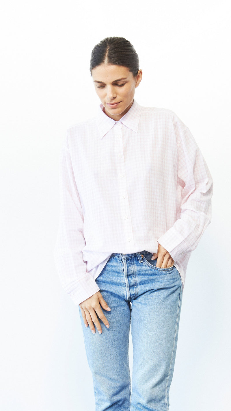 Iris Shirt / Petal Plaid