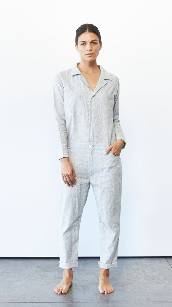 Jax Jumpsuit, Hemp Stripe