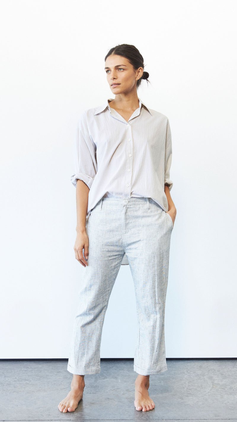 Aiden Trouser, Hemp Stripe