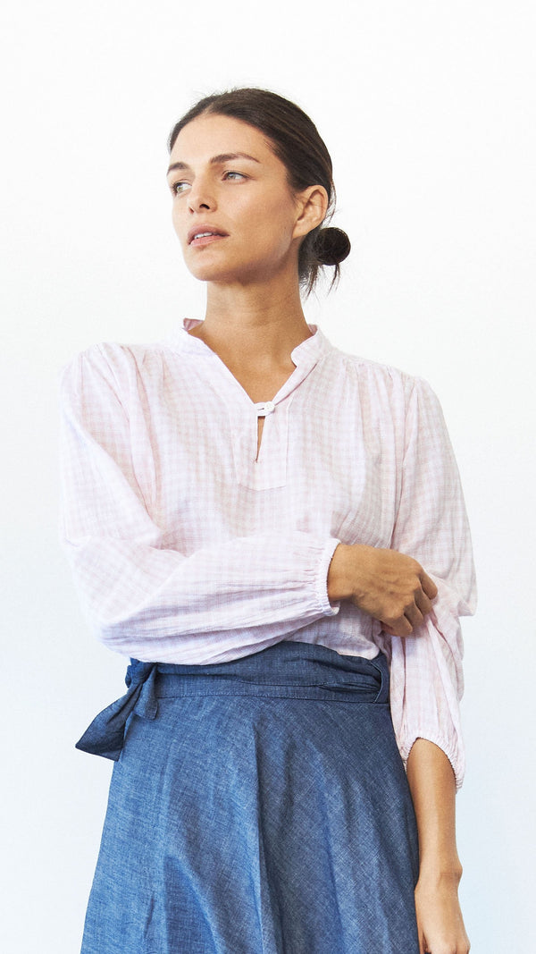 Eloise Top, Petal Plaid