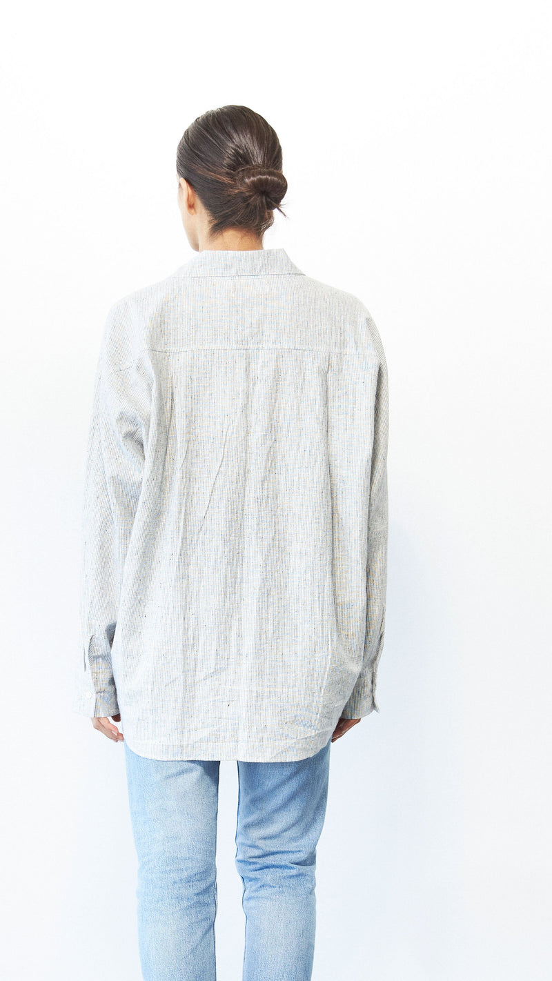 Iris Shirt, Hemp Stripe