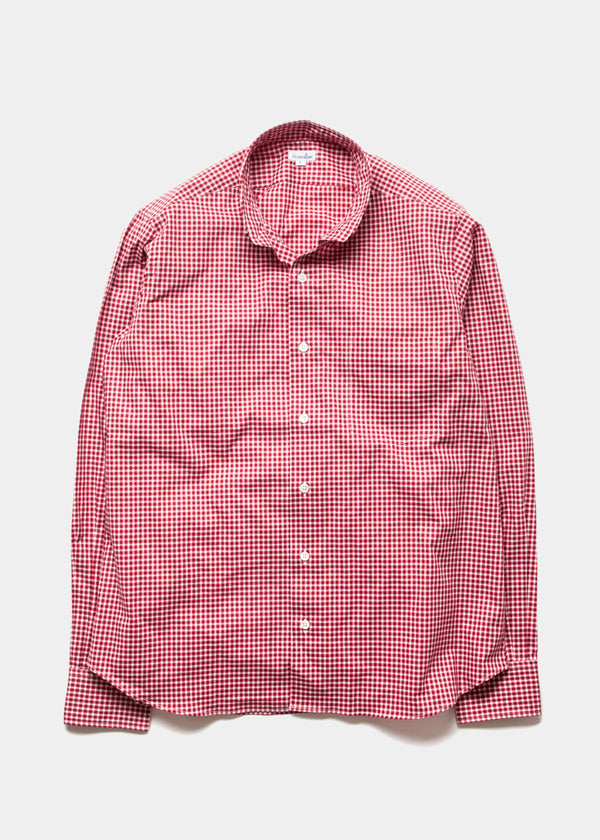Single Needle Shirt, Red Check