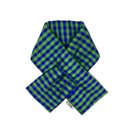GINGHAM LIME BLUE PADDED SCARF