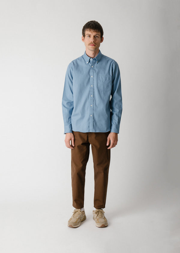 Classic Collegiate Shirt, Sky Oxford