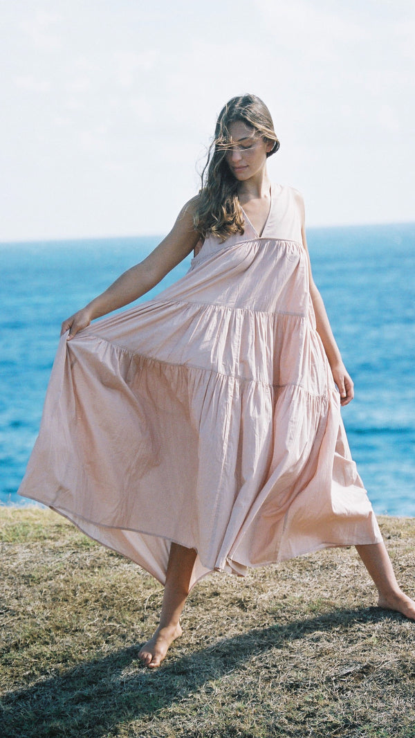 Como Dress, earth pink
