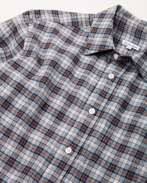 (Pre-Order) Staple Street Shirt in Brown/Blue Check