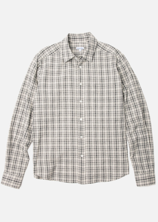 Staple Street Shirt in Black/Cream Plaid