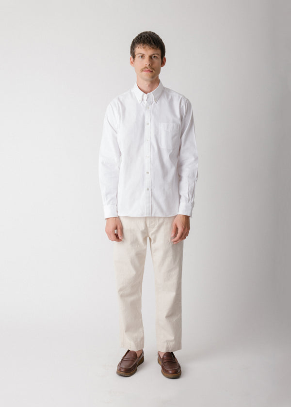 Classic Collegiate Shirt, White Oxford