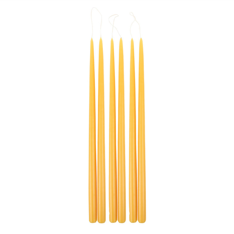 Saffron Taper Candles