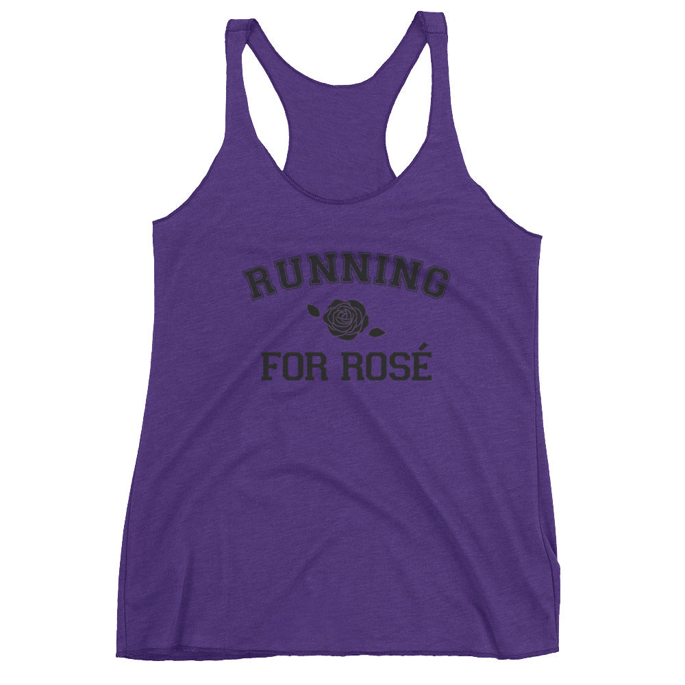 Running for Rosé Racerback Tank