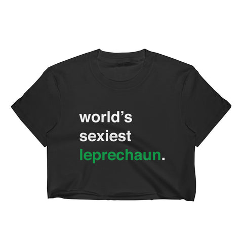 Sexy Leprechaun Crop Top