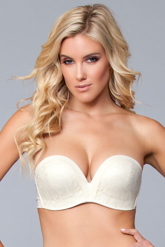 Nude Strapless Miracle Fit Push Up Bra