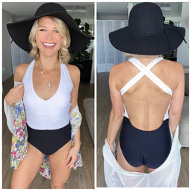 Timeless Black & White One Piece Swimsuit
