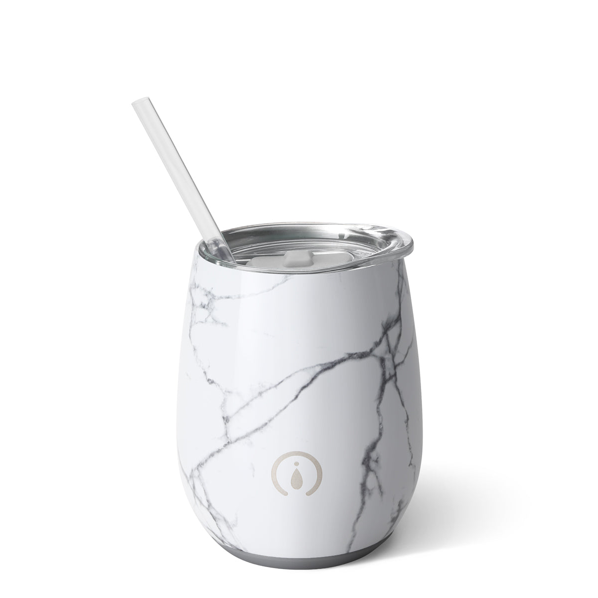 White Marble Slab 14oz Stemless Wine Cup