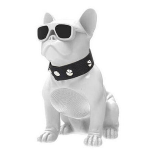 White Mini Bulldog Portable Bluetooth Speaker