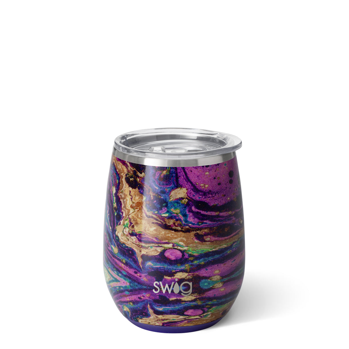 NEW Swig Purple Rain Stemless 14oz Wine Tumbler