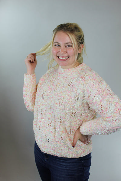 just be happy sweater - blush multi