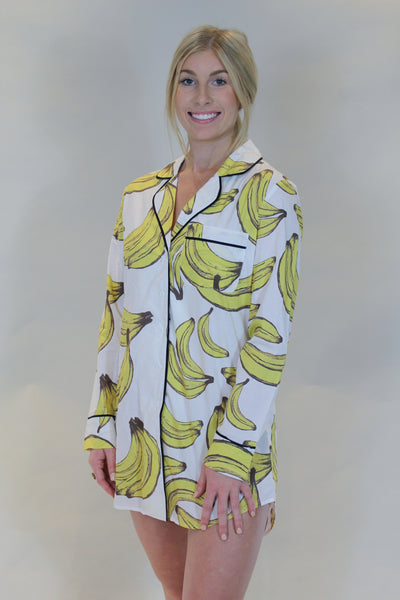 bananas for you pajama shirt