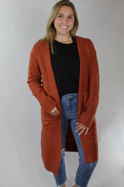by the fire cardigan - rust