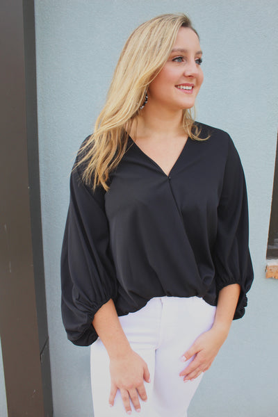 all the extras top - black