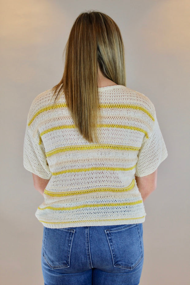 better believe it sweater- yellow combo