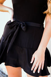 smooth sailing skort - black
