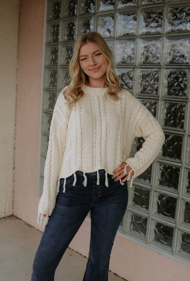 all the love knit sweater - ivory