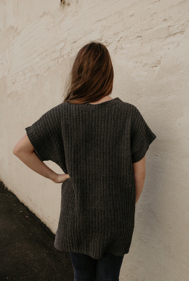over the moon sweater - charcoal