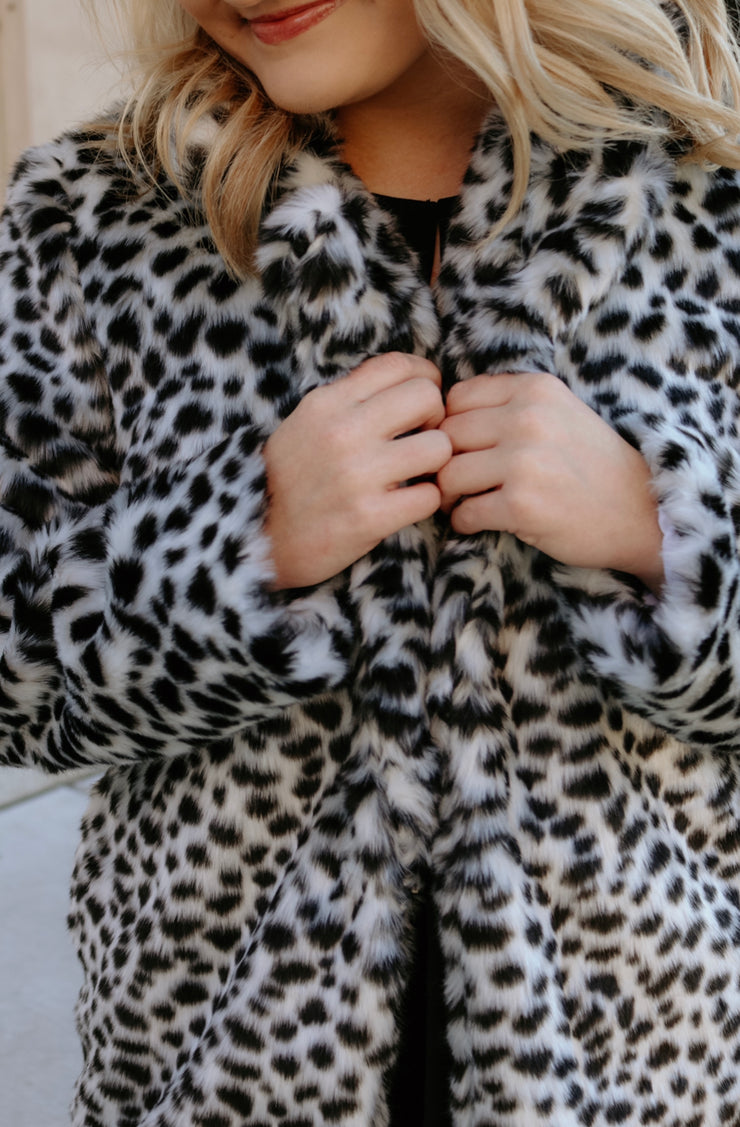 buddy love: the ross fur coat - dalmatian