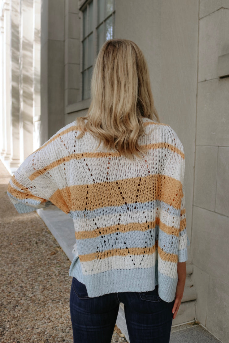 fall in love sweater - ivory mango multi