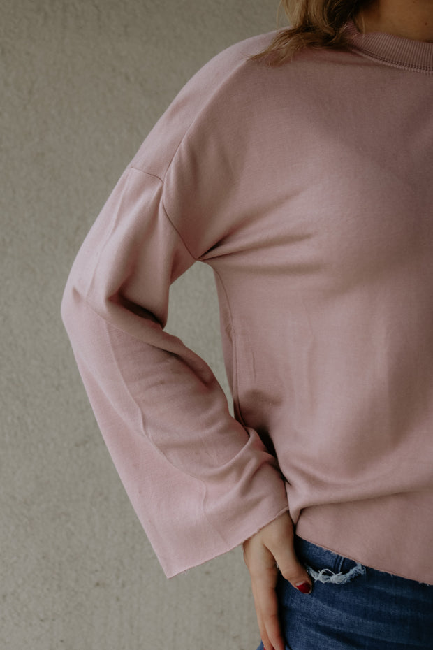 z supply: the fleece flare top - wood rose